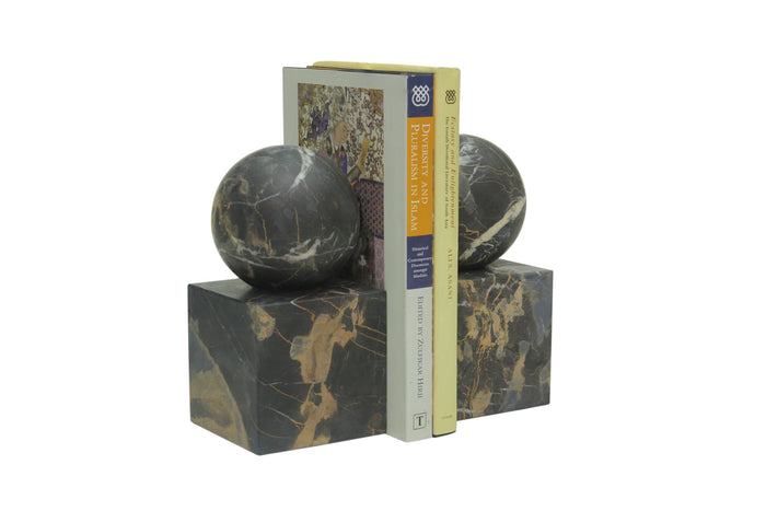 Marble Ball Bookends