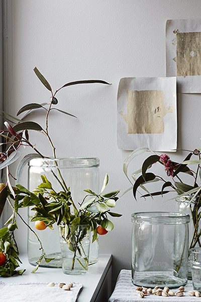 Recycled Cylinder Glass Vases