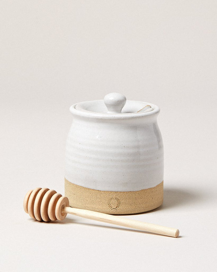 Beehive Honey Pot & Wooden Dipper