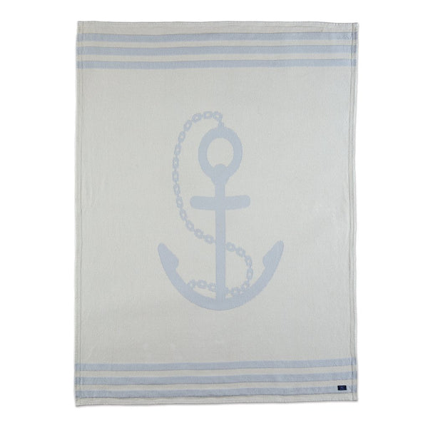 Nautical Anchor Throw in Grey