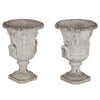 PAIR OF ENGLISH GARDEN URNS
