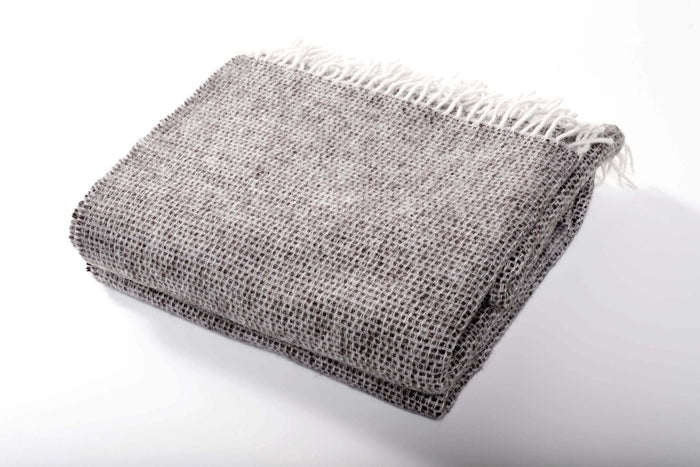 Charcoal Wool Throw