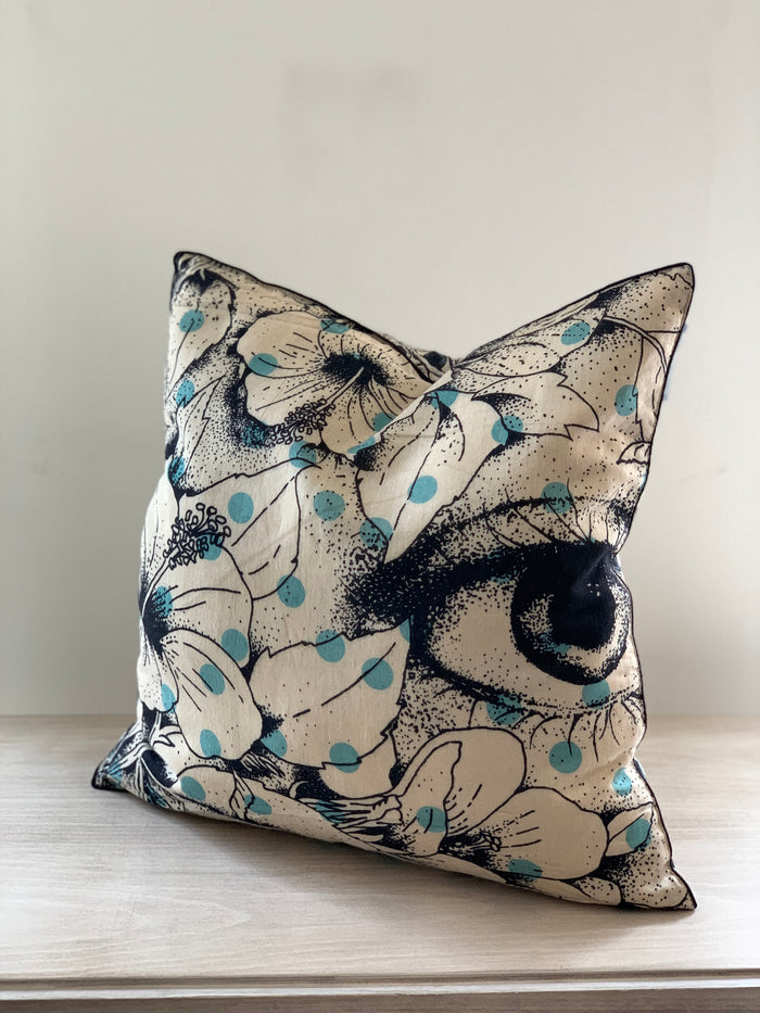 Vintage Japanese Silk Pillow