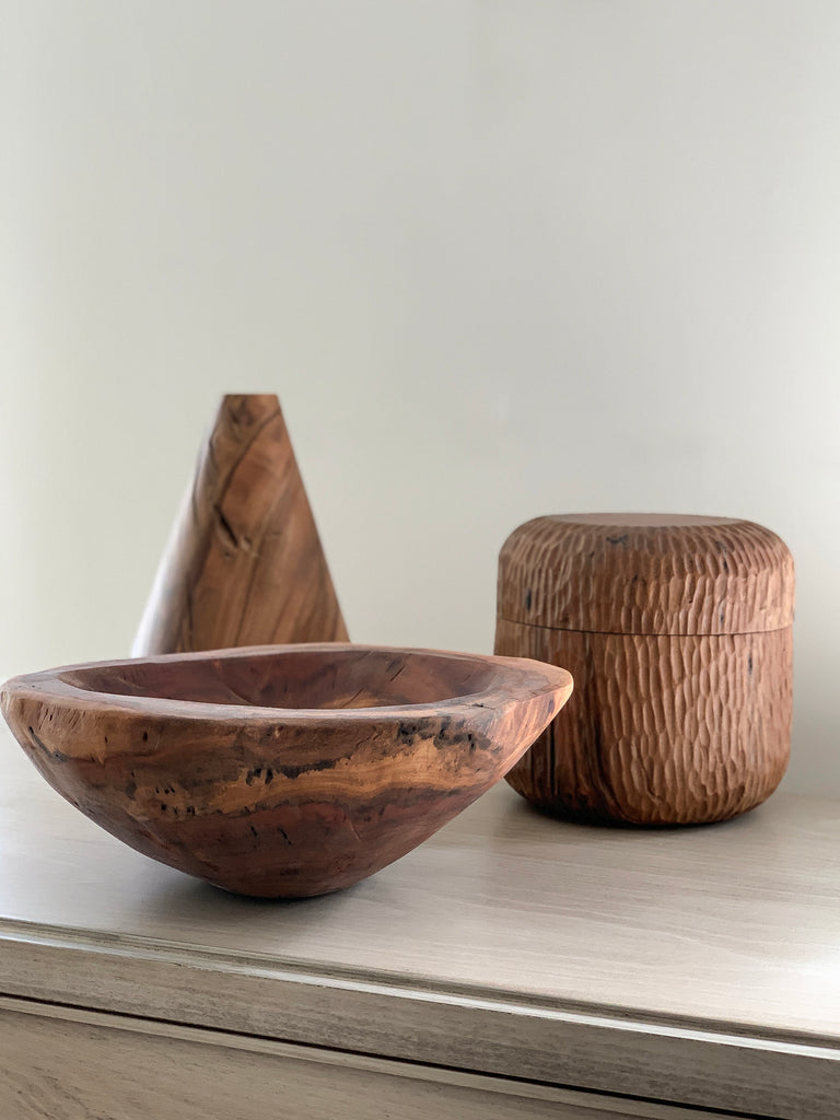 Hand Carved Wood Bowl