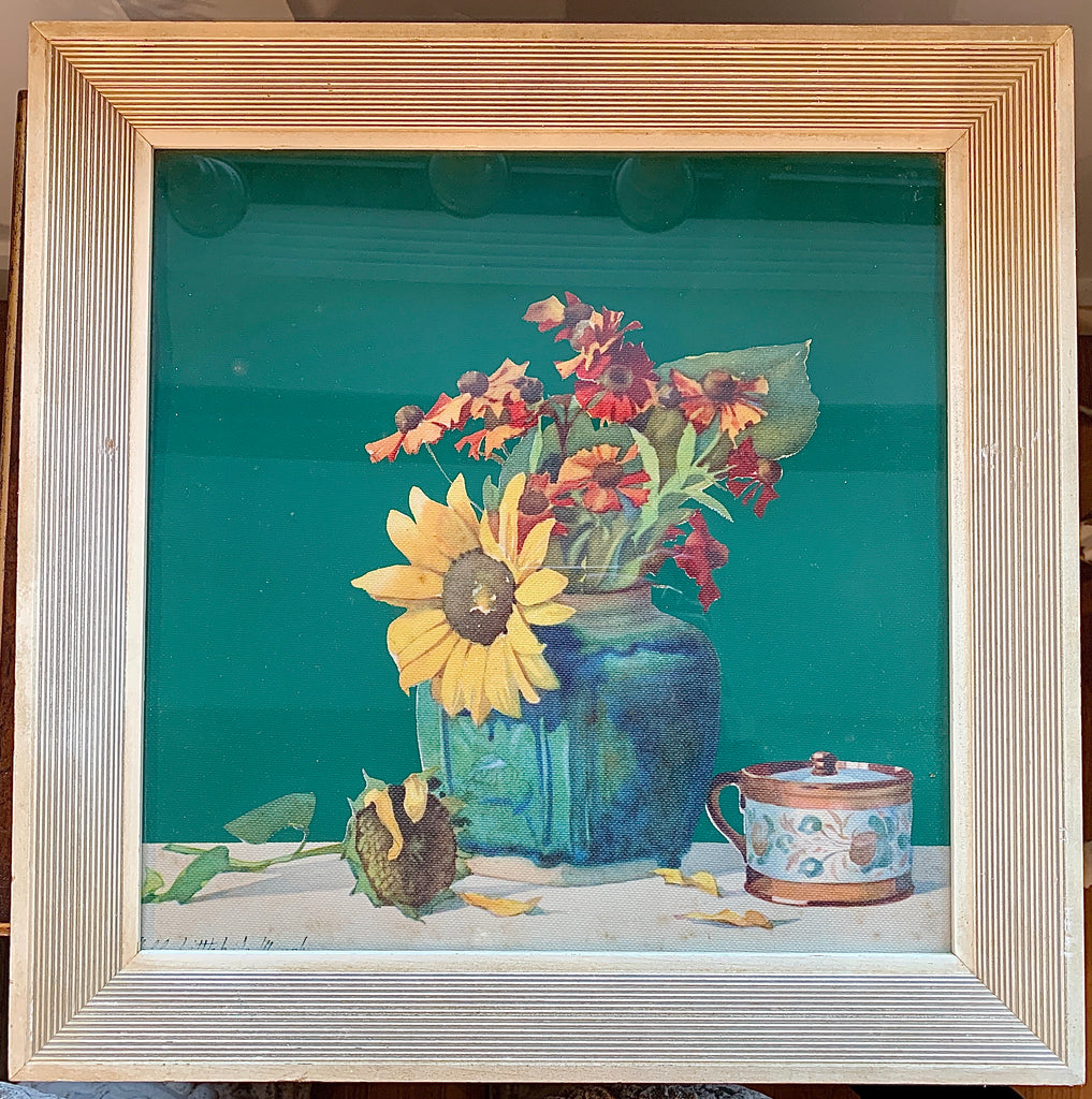 Pair of 1940's Floral Still Life