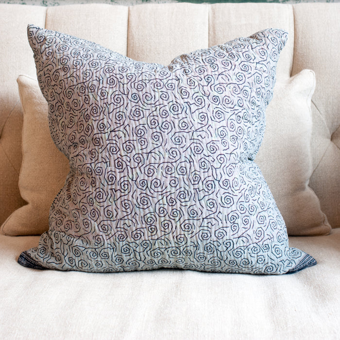 Sari Pillow with Feather and Down Insert