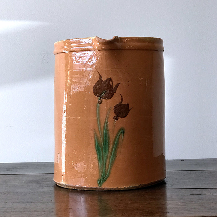 Antique French Pitcher - Tulips
