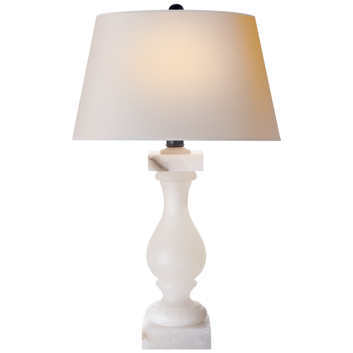 Alabaster Balustrade Table Lamp