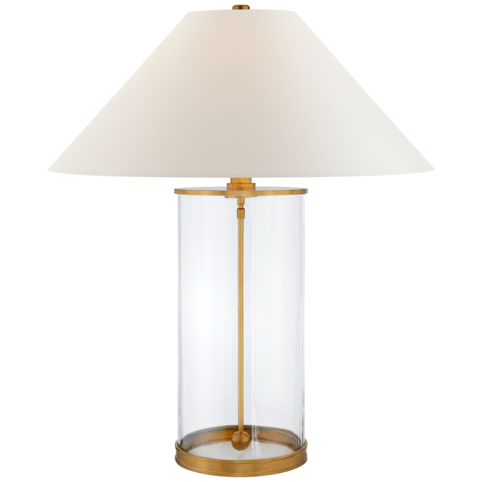 Brass & Glass Hurricane Table Lamp