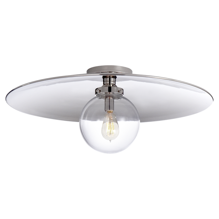 Bistro Single Light Plate Flush Mount