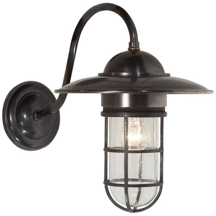 Marine Medium Wall Light with Seeded Glass