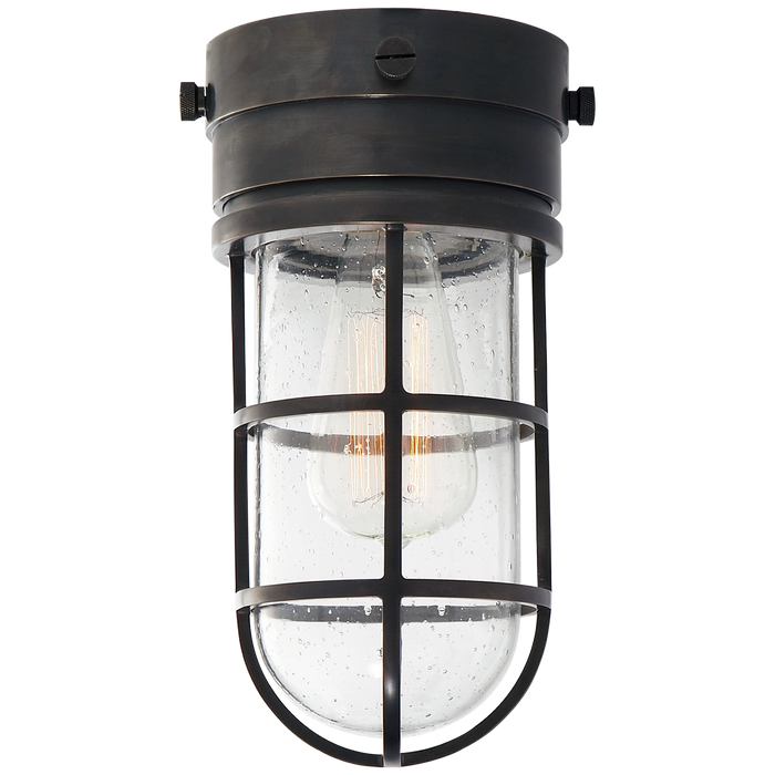 Marine Flush Mount Light with Seeded Glass