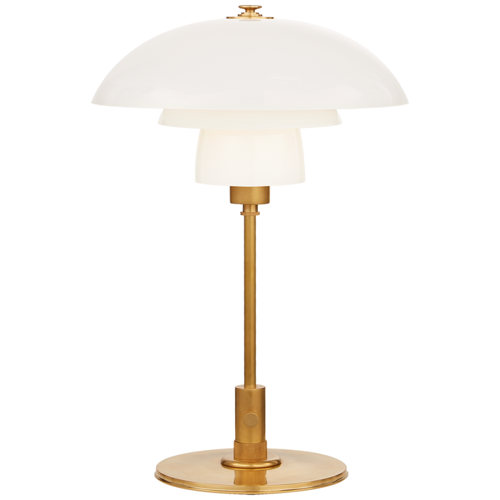 Whitman Desk Lamp in White Glass
