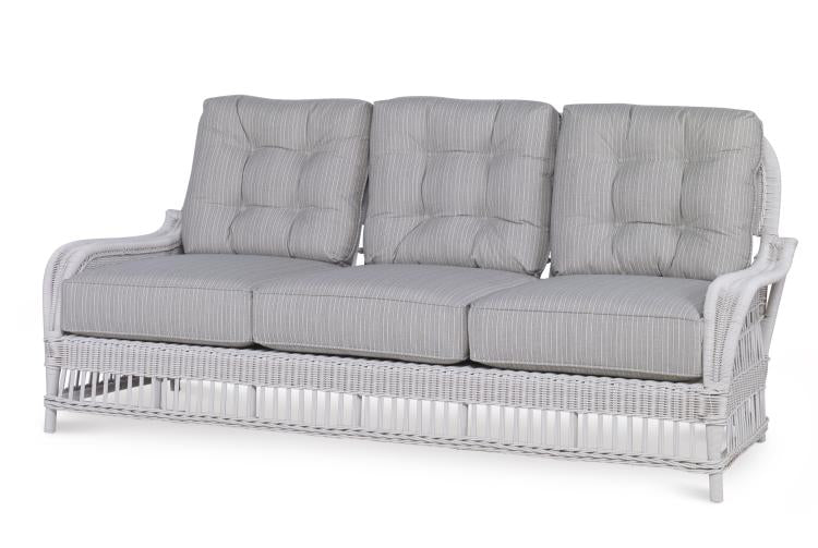Mainland Wicker Sofa with Buttons