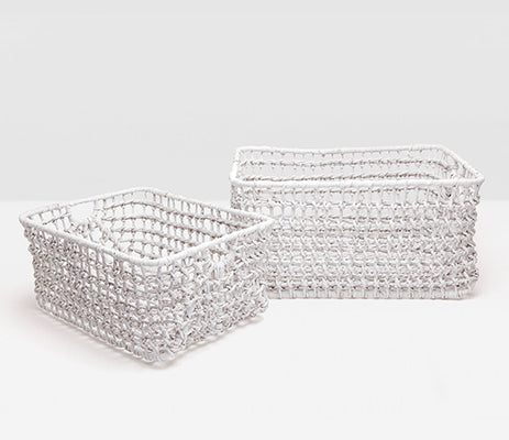 Ardross White Woven Baskets