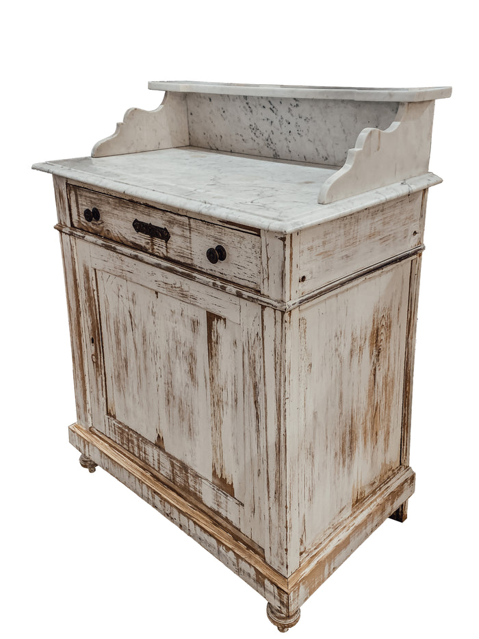 Antique French Painted Washstand