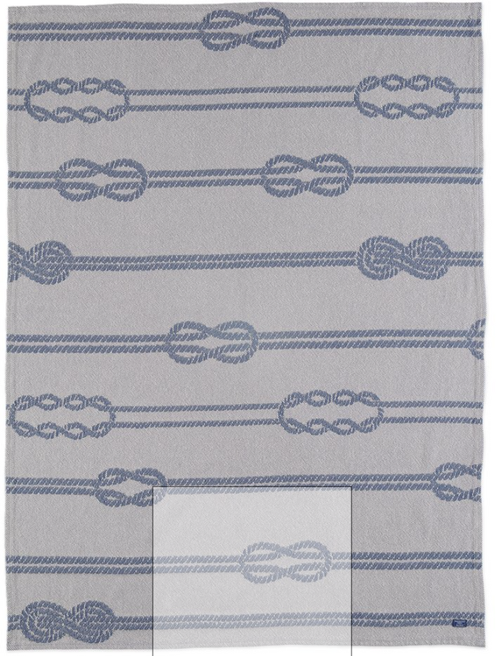 Nautical Knot Throw in Navy/Natural