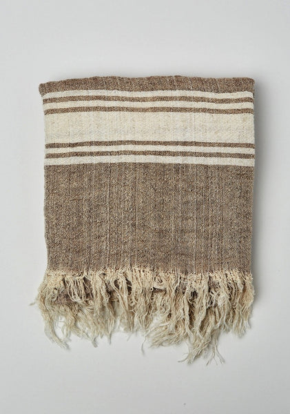Seaside Stripe Linen Throw/Wrap