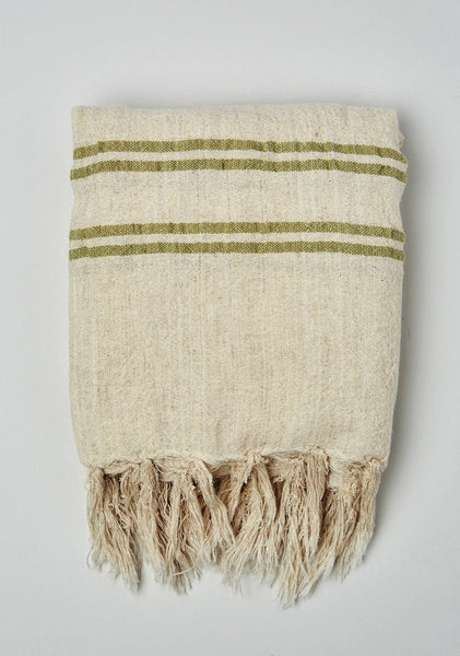Four Stripe Linen Blanket