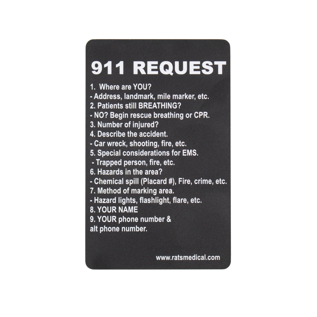 911 Request Card