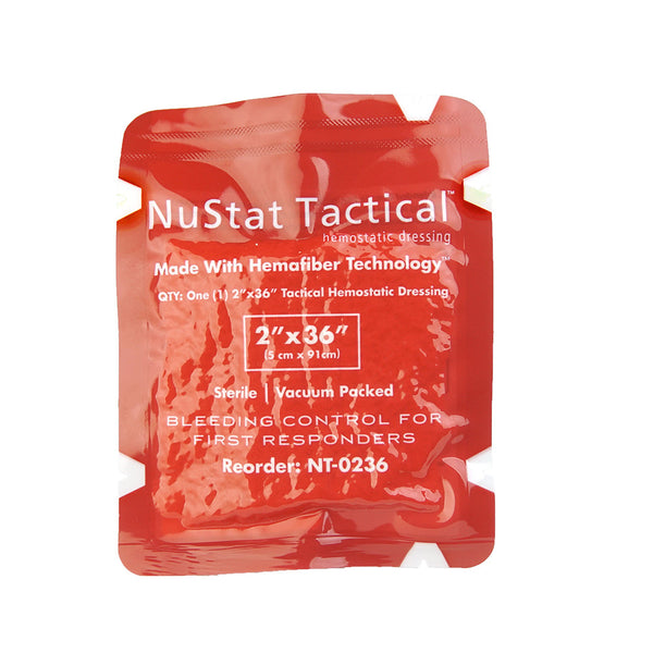 NUSTAT TACTICAL HEMOSTATIC DRESSING