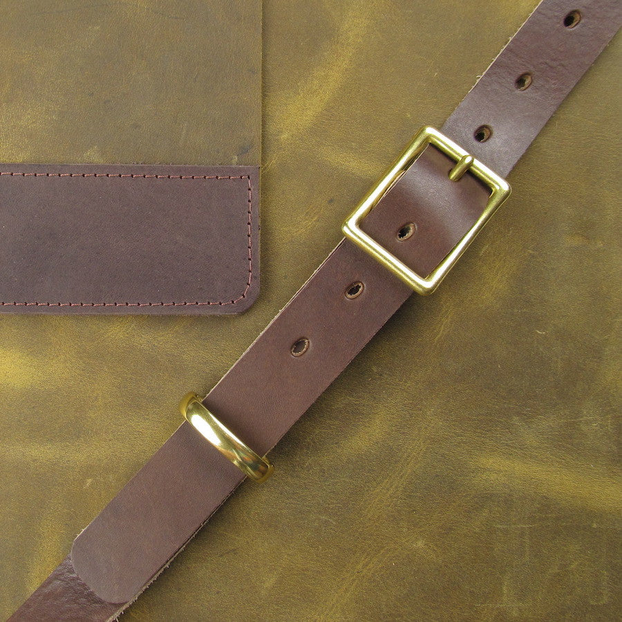 Custom Leather Crossbody Mesenger Olive