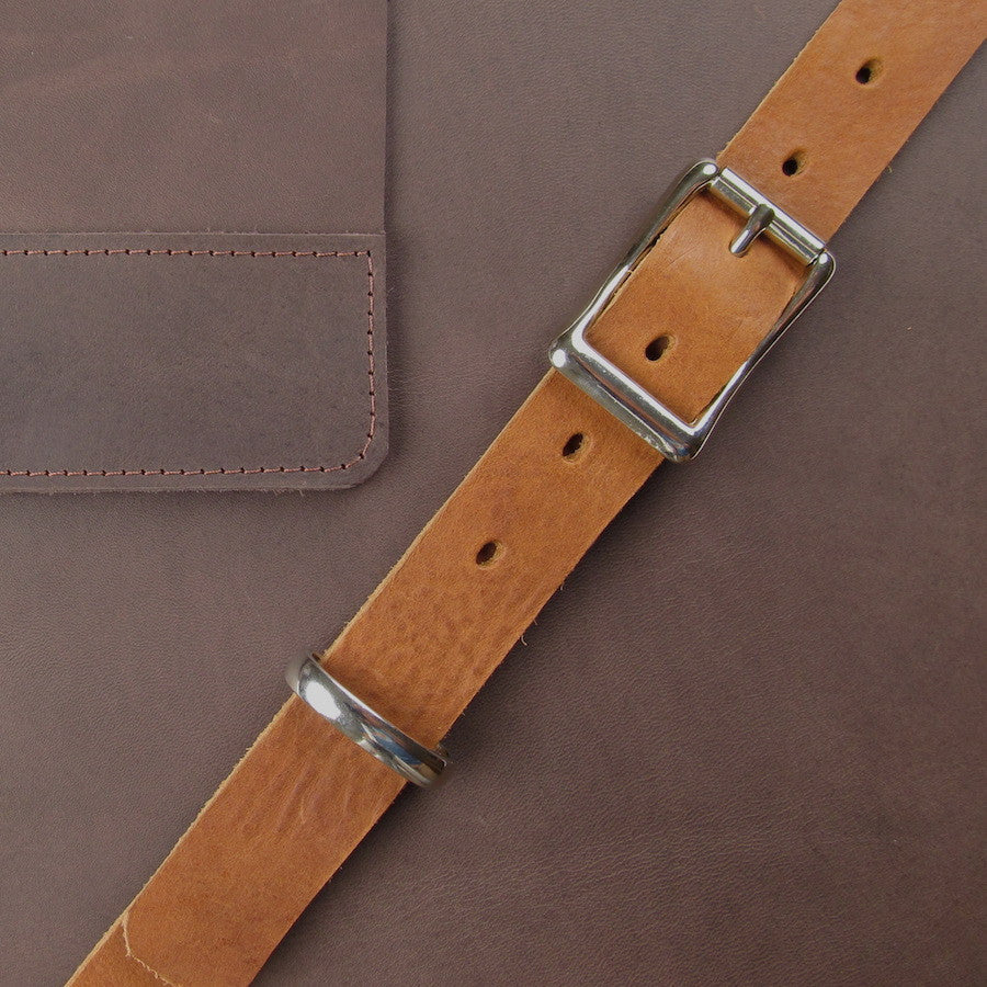 Custom Leather Crossbody Mesenger Brown