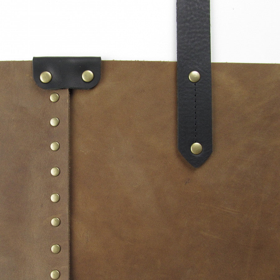 Custom Leather Purse Tan