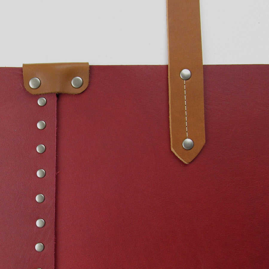 Custom Leather Purse Red