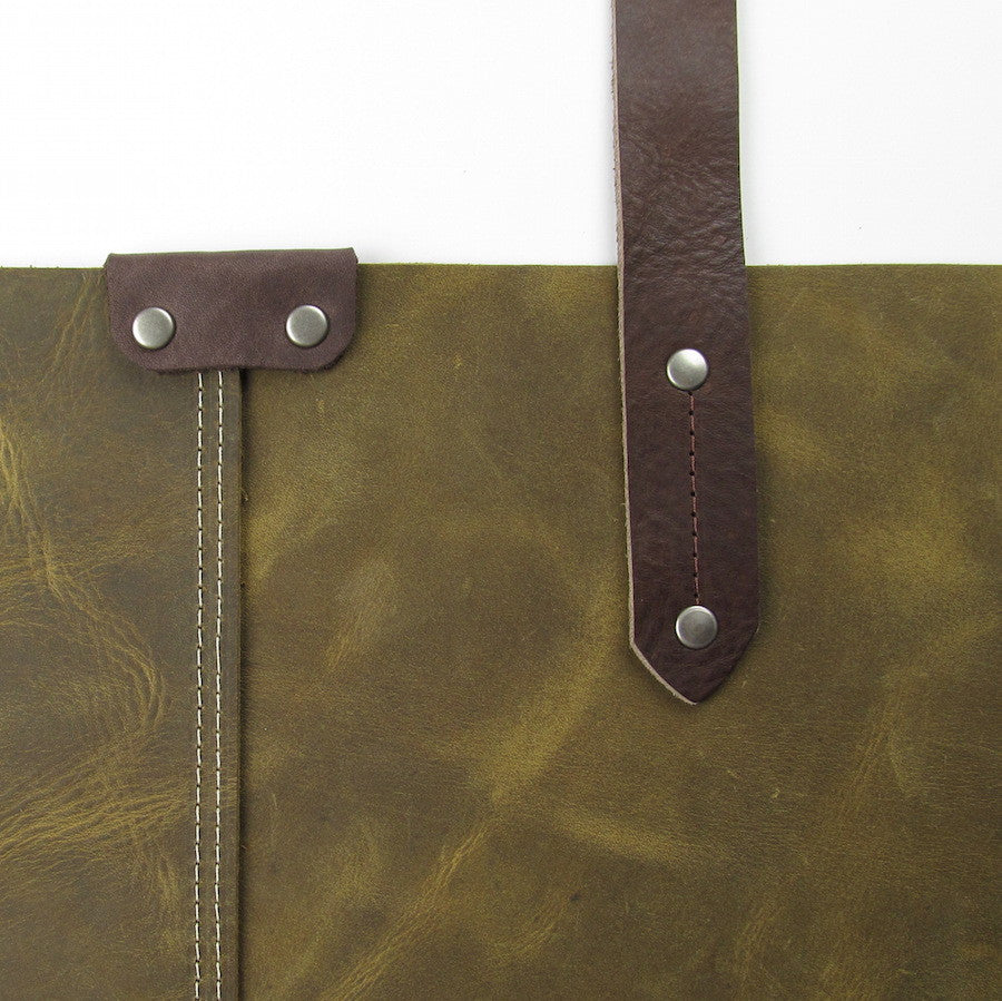 Custom Leather Purse Olive