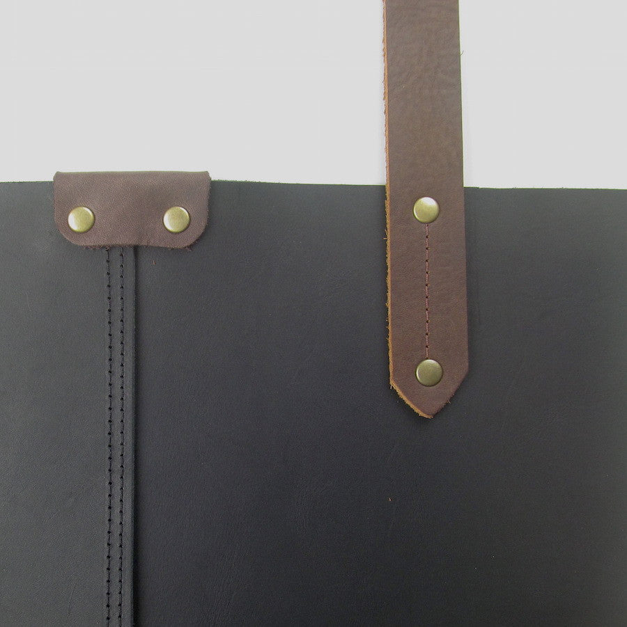 Custom Leather Purse Black