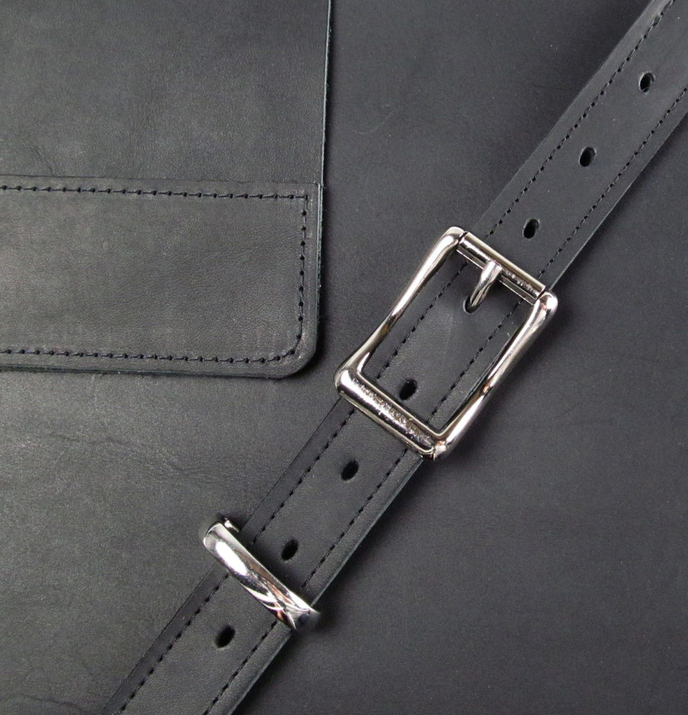 Leather Crossbody - Coal