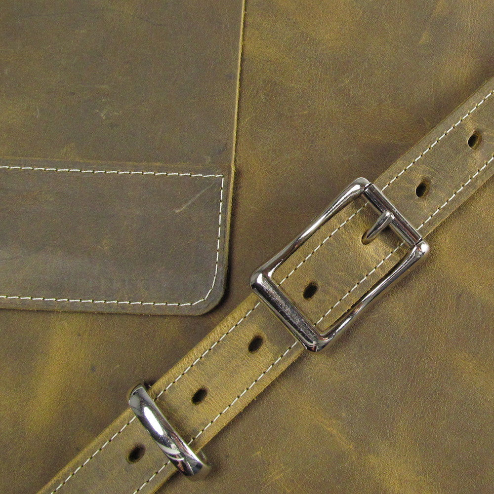 Leather Crossbody - Olive