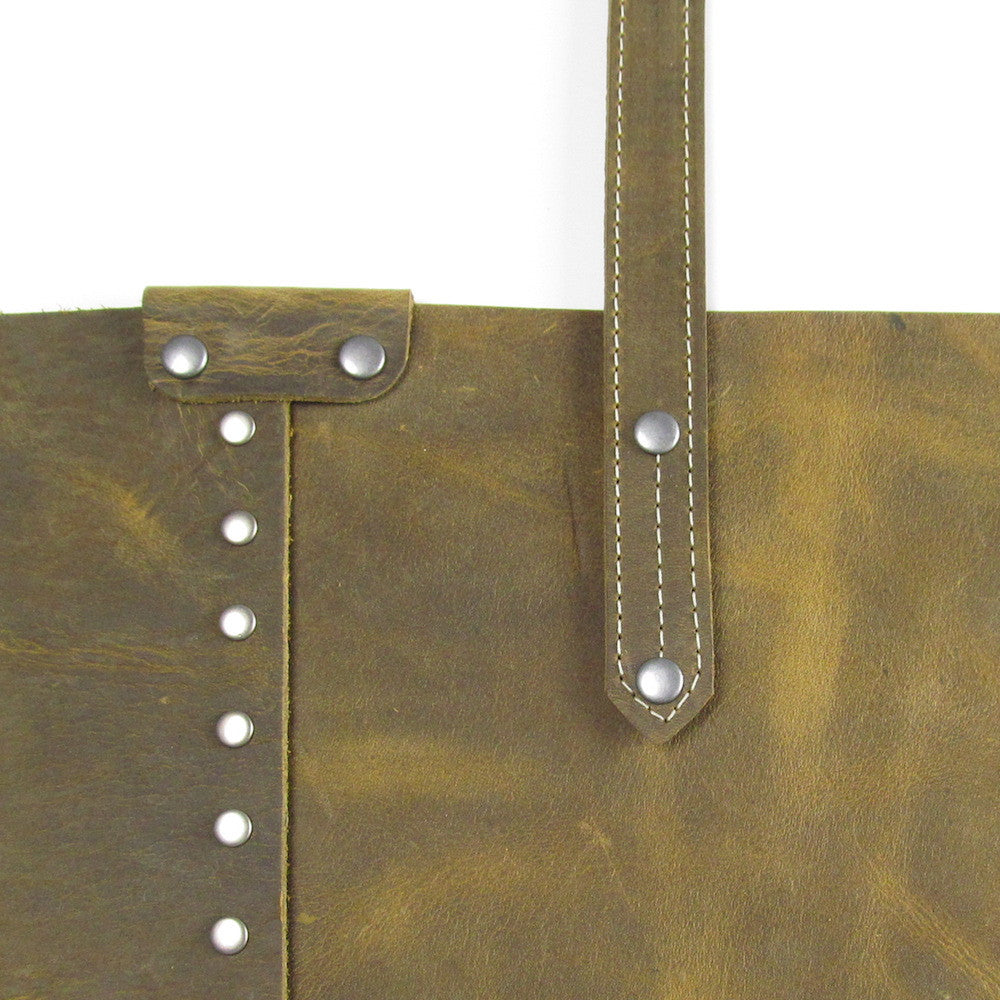 Rivet Shoulder Bag - Olive
