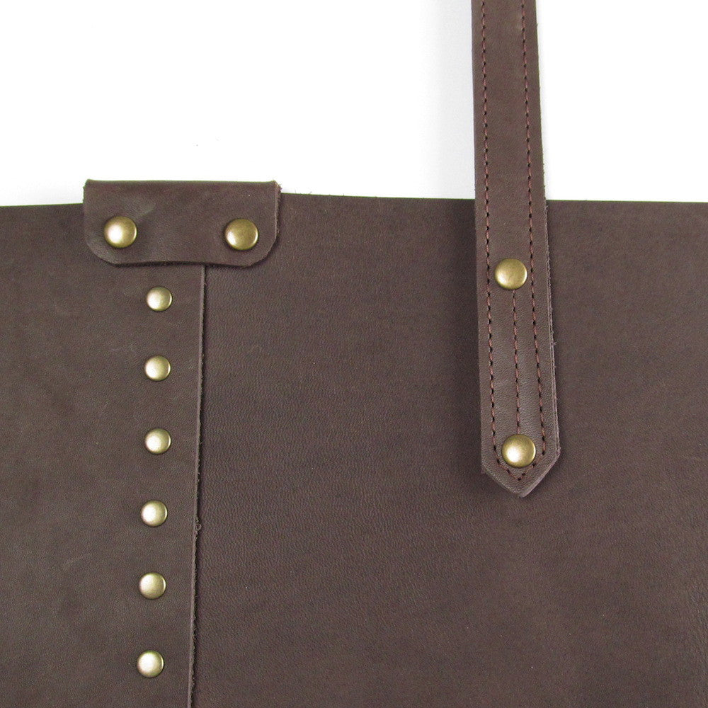 Rivet Shoulder Bag - Cocoa