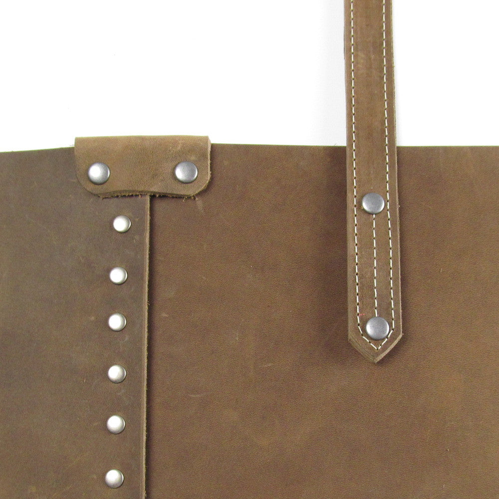 Rivet Shoulder Bag - Dusty