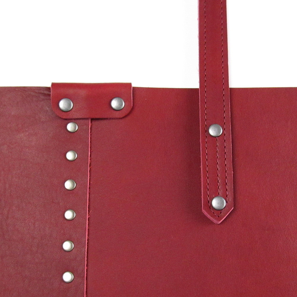Rivet Shoulder Bag - Cardinal