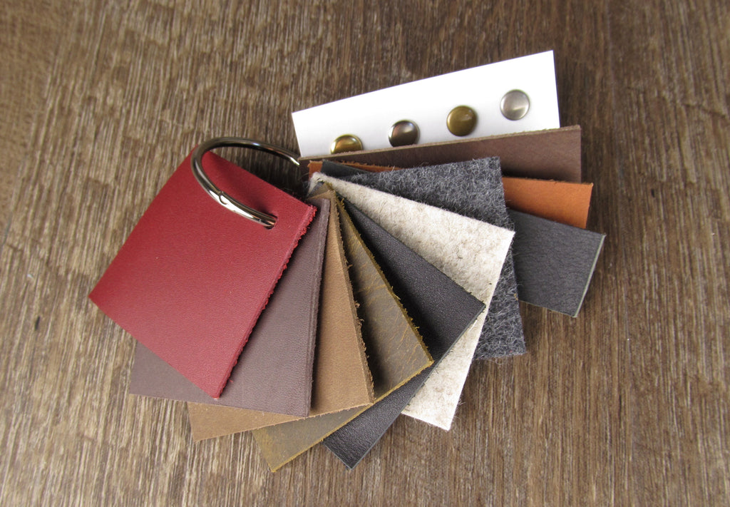 Handmade Custom Leather Bags - Swatches