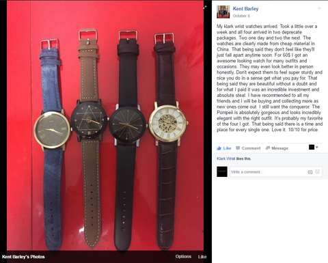 klark wrist watch scam