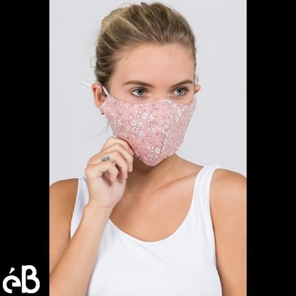 Floral Mask - eBella Apparel