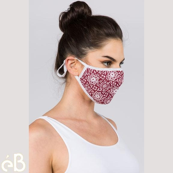 Ethnic Print Face Mask Top Quality Adult Unisex Cloth Mask - Adjustable Washable Anti-Dust Fashion Fast Shipping  Made in Korea - eBella Apparel