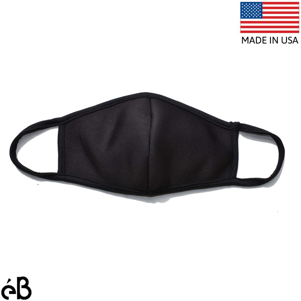 Face Mask 3D / 3Ply Neoprene and Cotton Lining-Made in USA - eBella Apparel