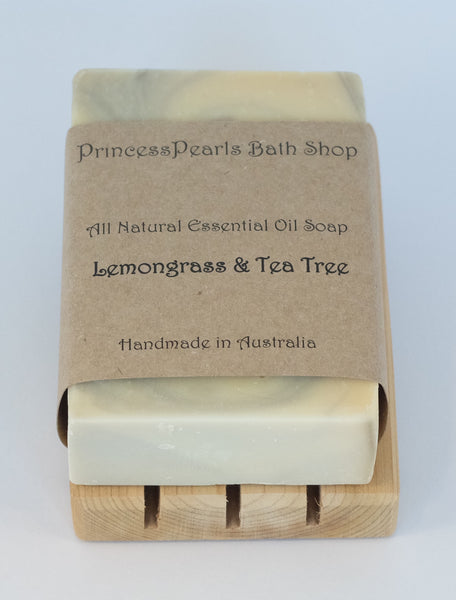 Essential Oil Handmade Soap : Lemongrass & Tea Tree