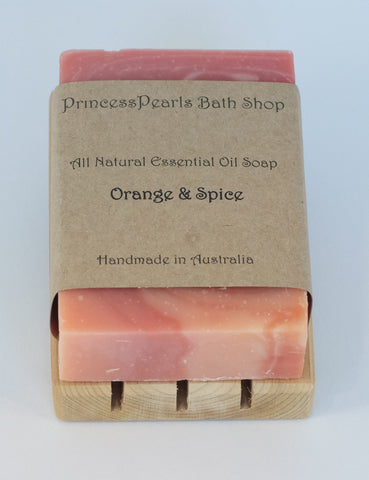 Essential Oil Handmade Soap : Orange & Spice