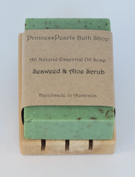 Essential Oil Handmade Soap : Seaweed & Aloe Scrub