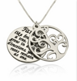 Silver Family of Tree Necklace