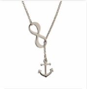 Sterling Infinity Anchor Necklace