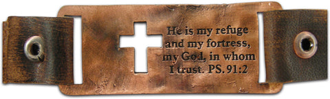 In God We Trust Leather Christian Bracelet