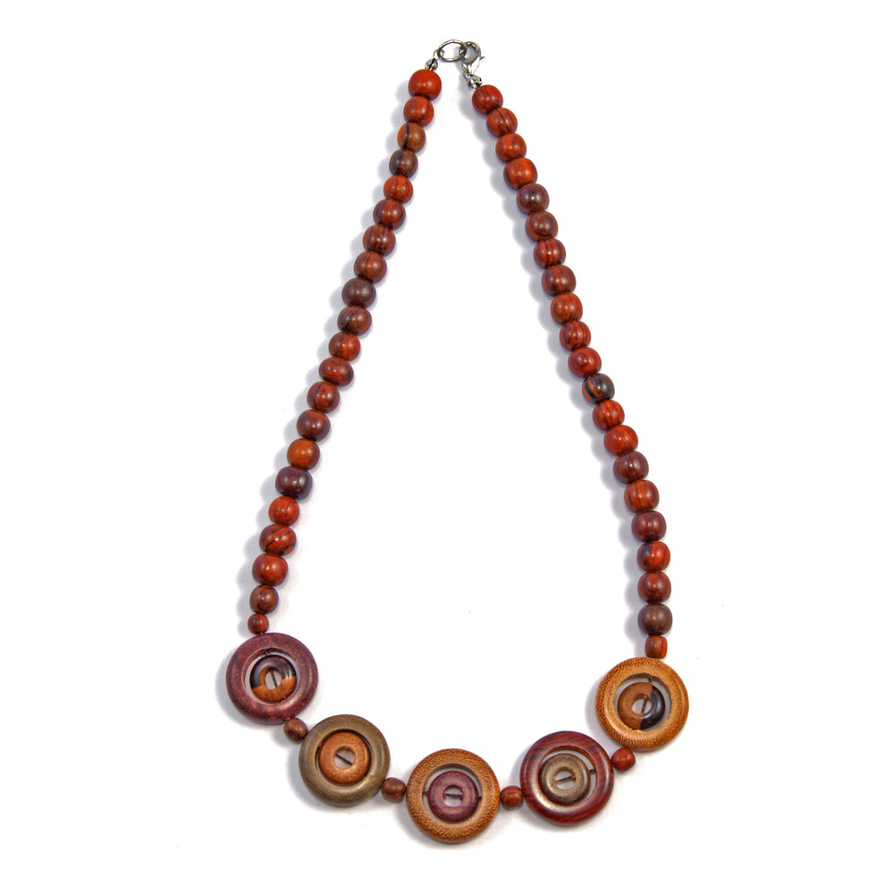 TICA SURF Unique string exotic wood necklace - Big eyes - EE2199