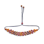 TICA SURF Unique exotic wood choker necklace - Multicolor beads - EE259